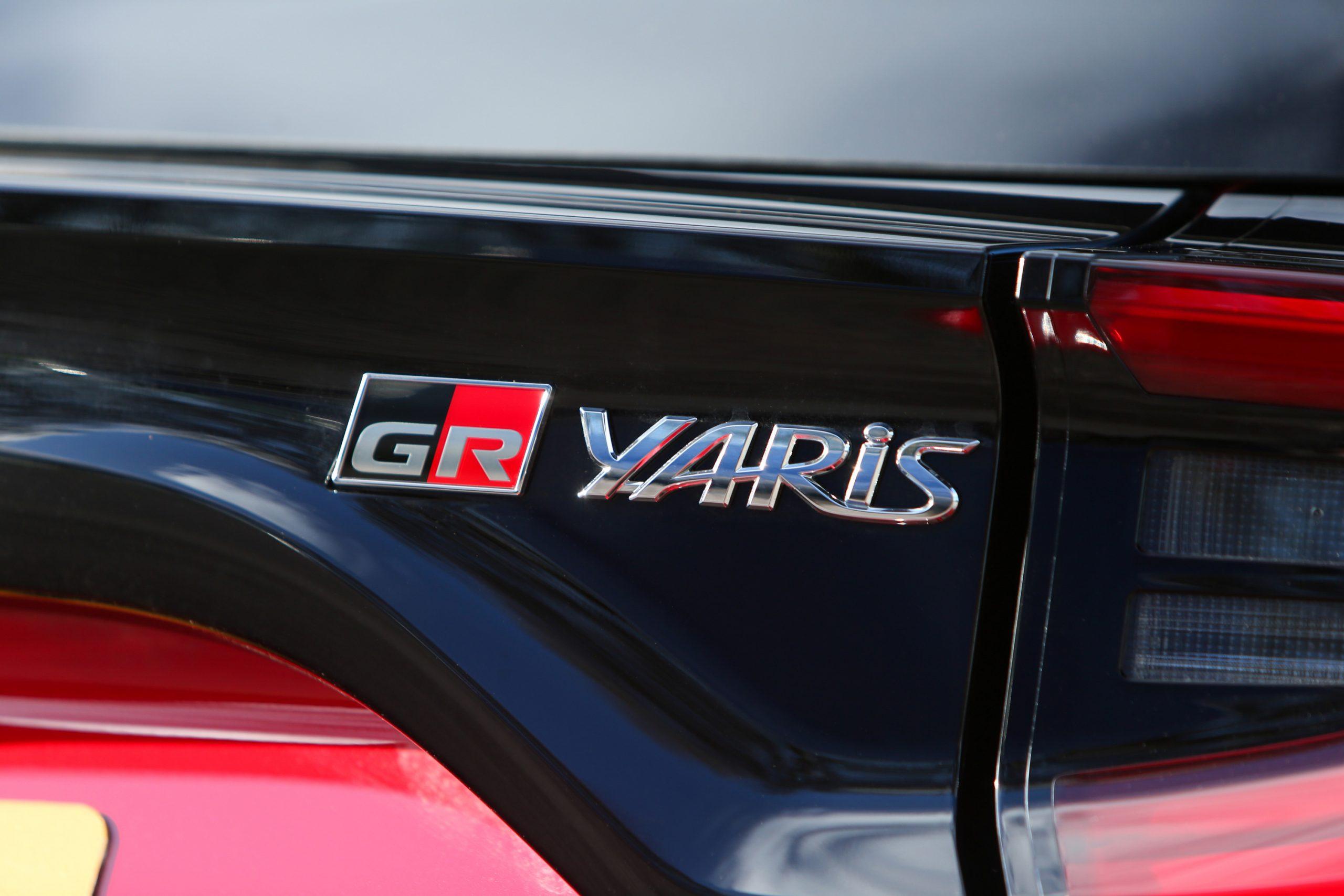 GR Toyota Yaris badging detail