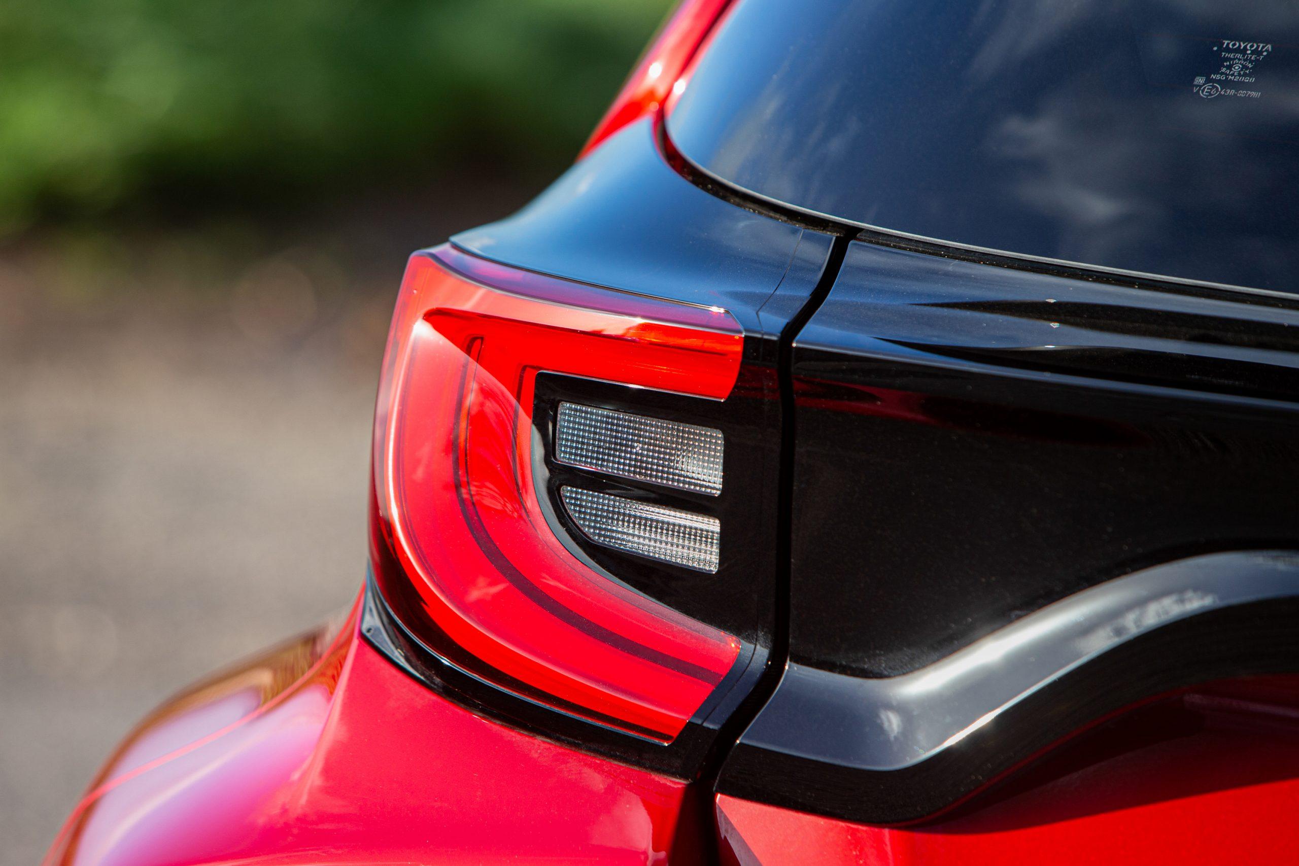 GR Toyota Yaris taillight detail