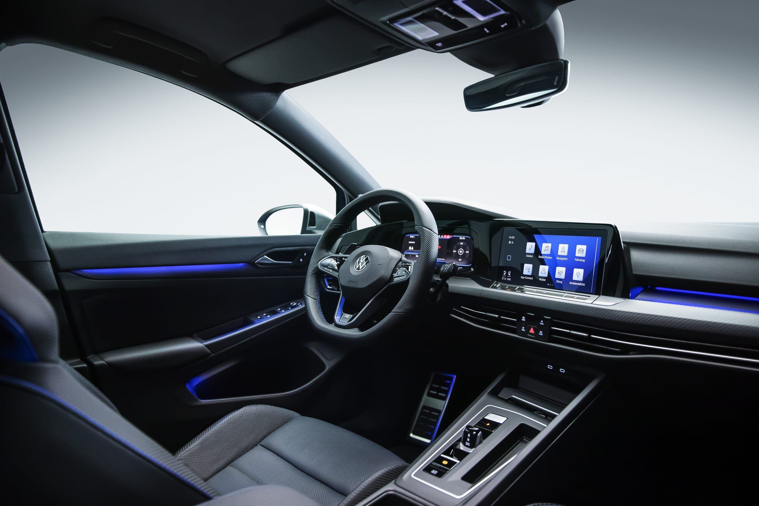 Golf R interior front dash and drivers cockpit
