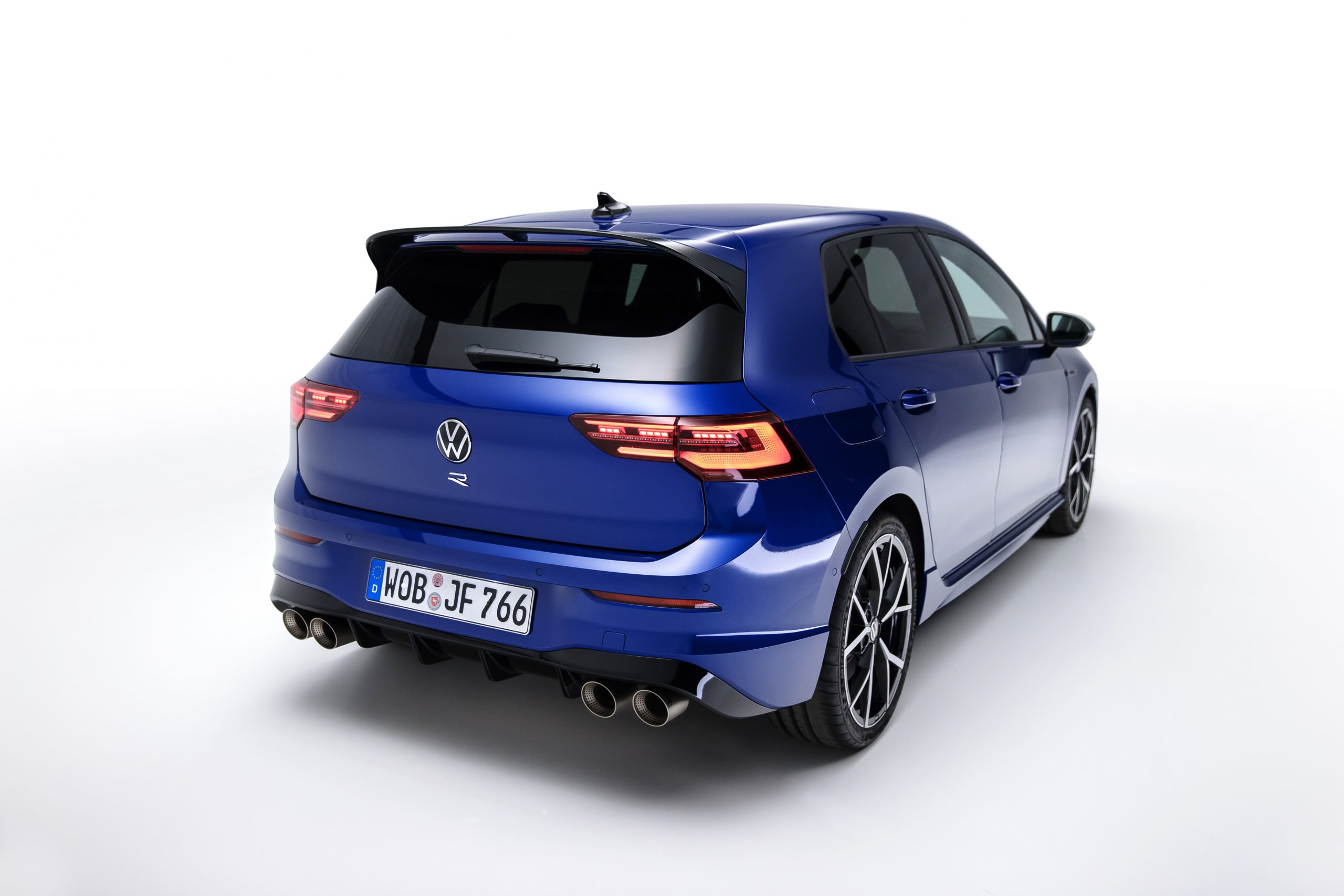 Golf R rear three-quarter on white