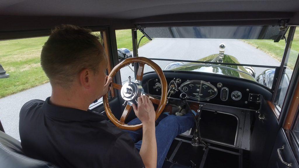 HVA - 1921 Duesenberg - Driving Experience - Interior with Brandan Anderson driving