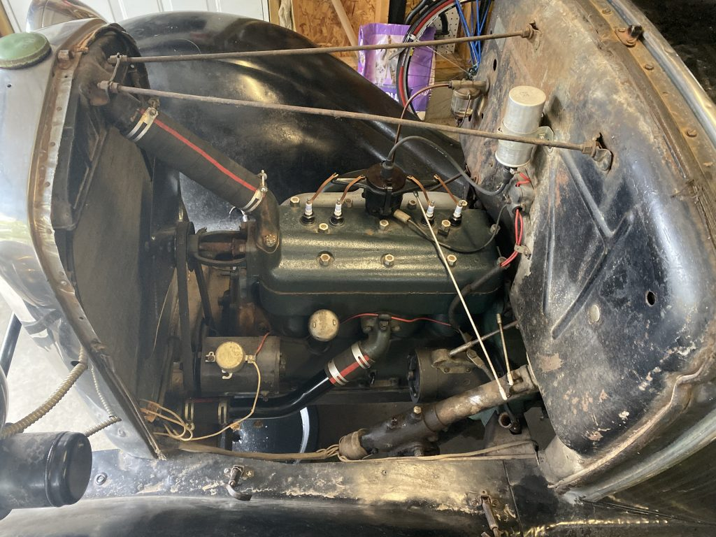 Model A engine compartment