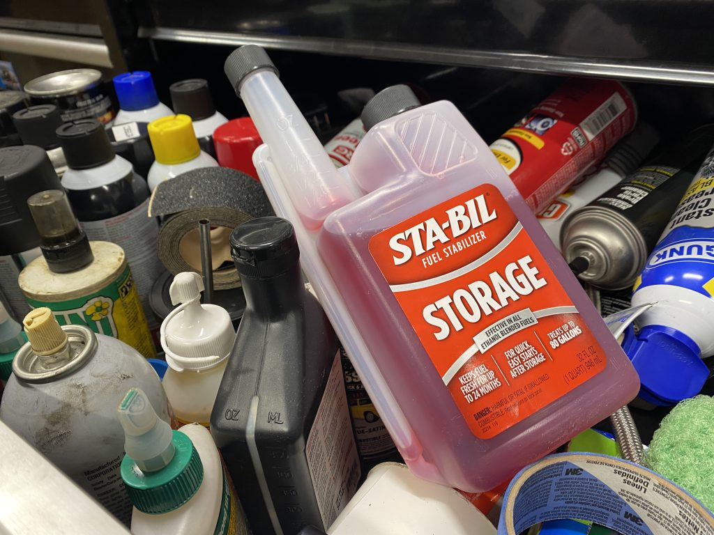 Sta-bil gas treatment in drawer