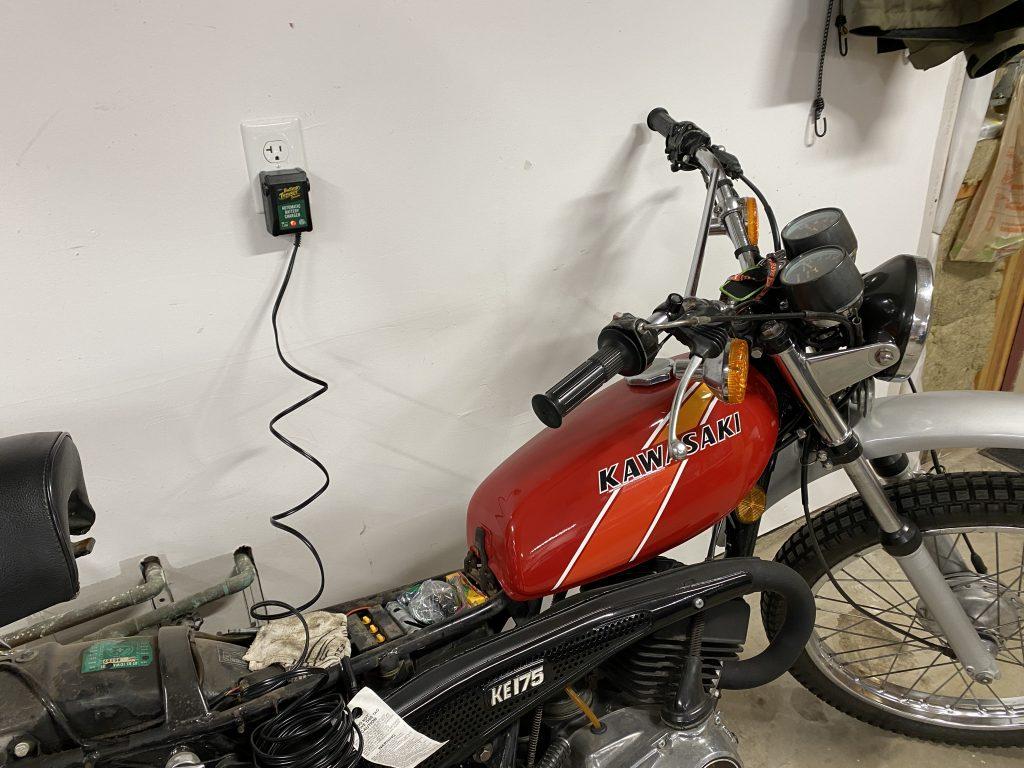 Battery Tender on motorcycle