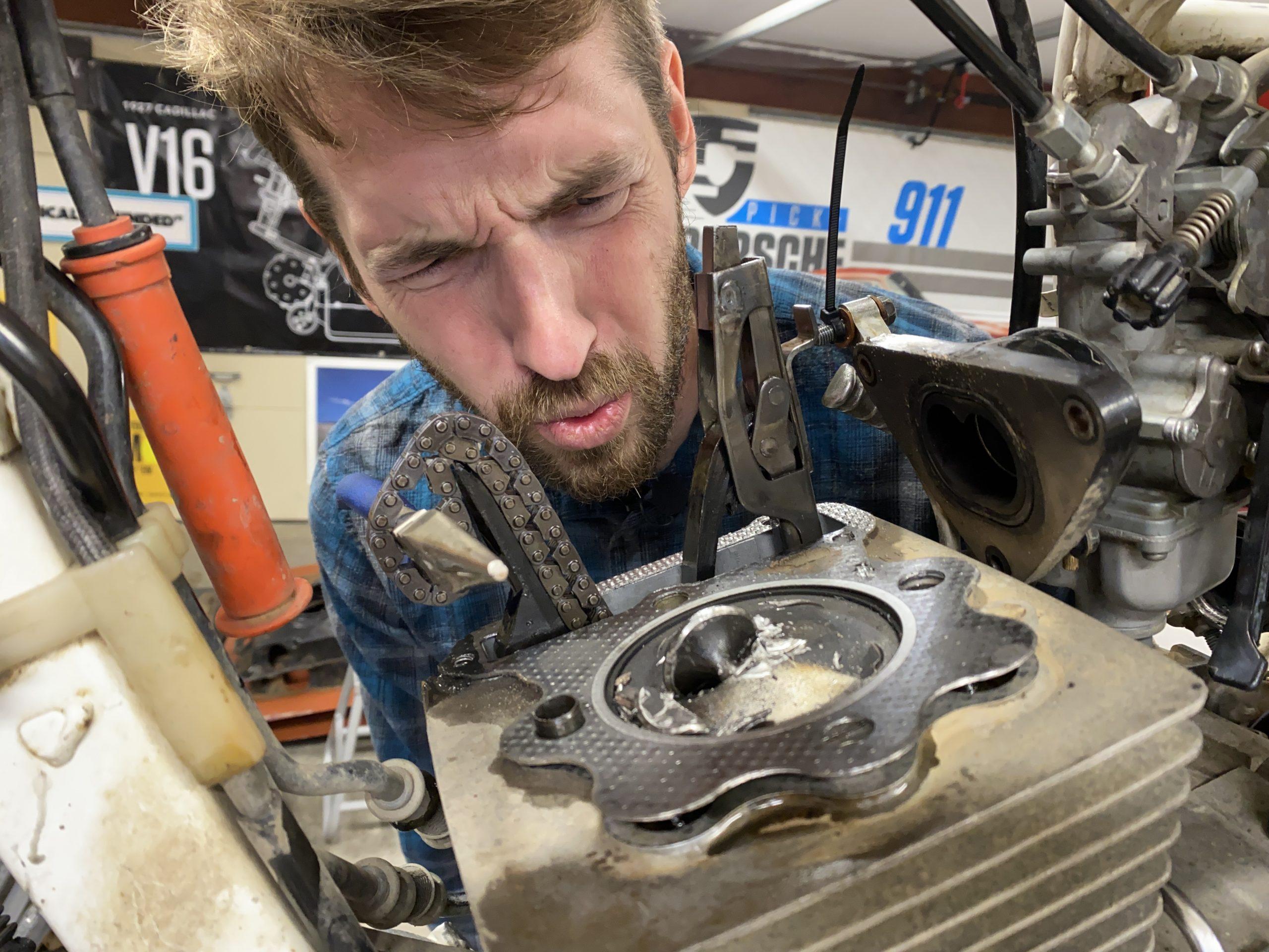 Honda XR250 valve crash