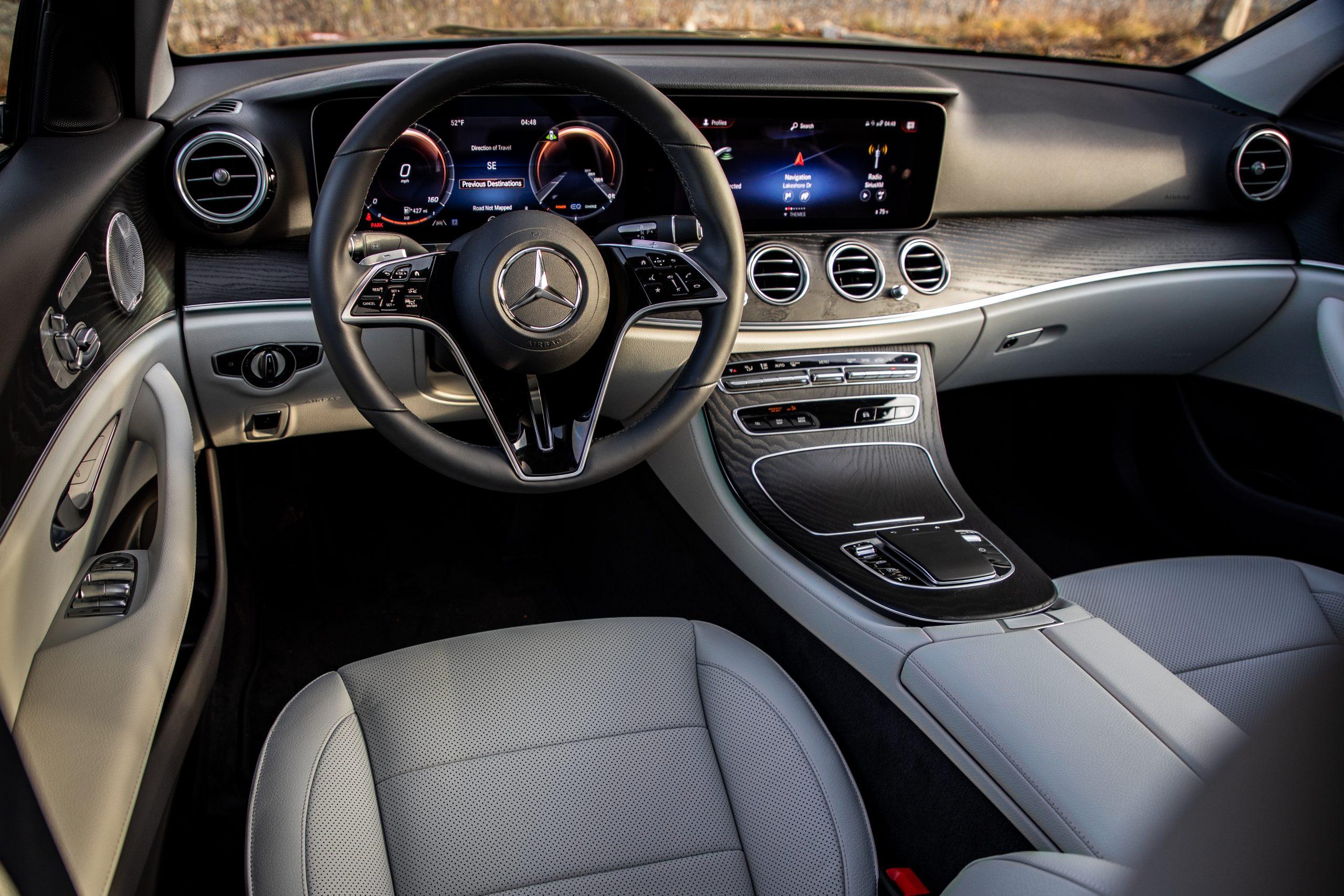 2021 Mercedes Benz E 450 4MATIC cabin interior