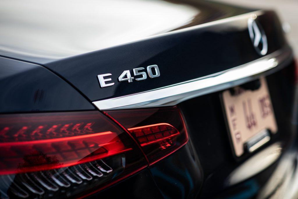 2021 Mercedes Benz E 450 4MATIC rear logo
