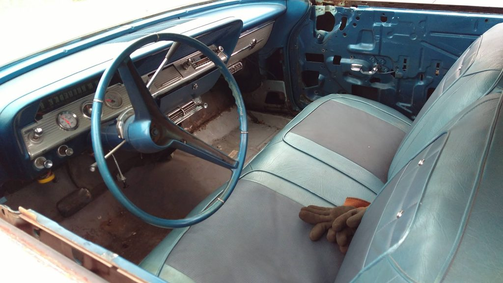 Jason Prince - 1962 Chevrolet Impala - Before resto - Interior front seat