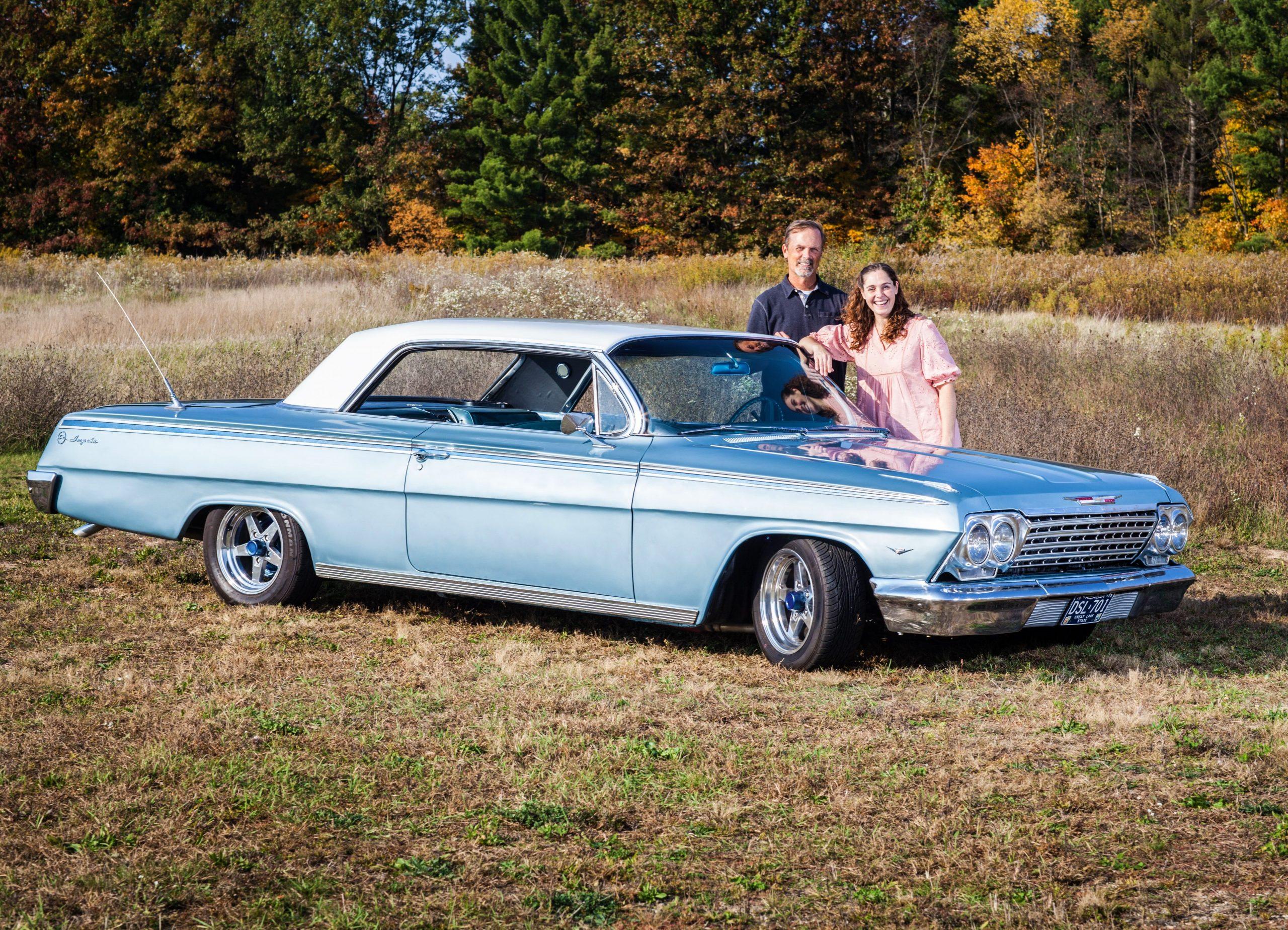 Jason Prince - 1962 Chevrolet Impala - Jason and Lynn outside the car 1