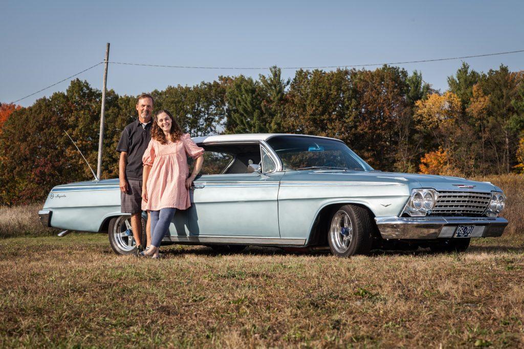 Jason Prince - 1962 Chevrolet Impala - Jason and Lynn outside the car 2