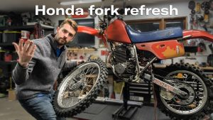 Fork refresh for a Honda XR250R   Kyle's Garage – Ep. 19