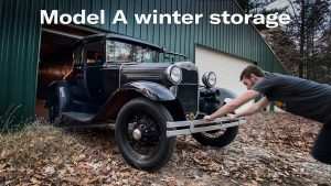 Model A storage and starting on the Corvair's exhaust   Kyle's Garage – Episode 20