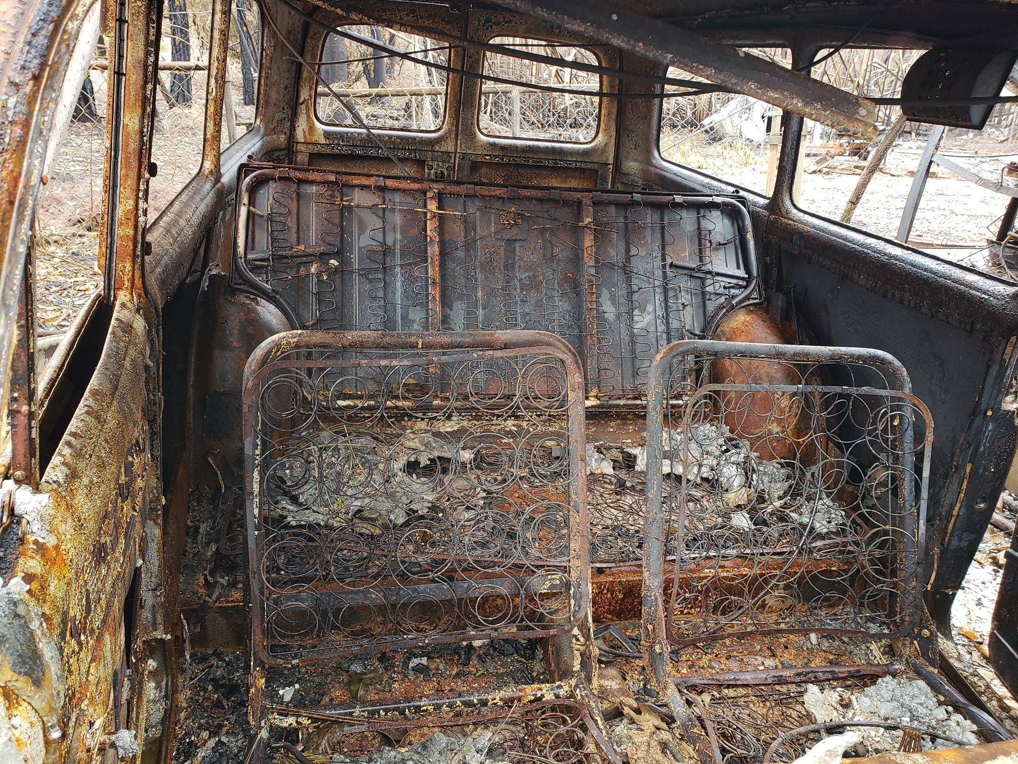 kirby family interior burned volvo