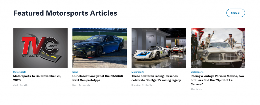 MSR Featured Motorsports Articles