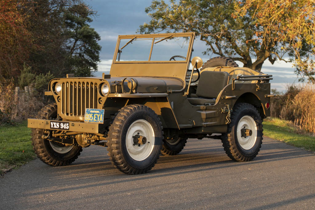 McQueen Willys Jeep front three-quarter