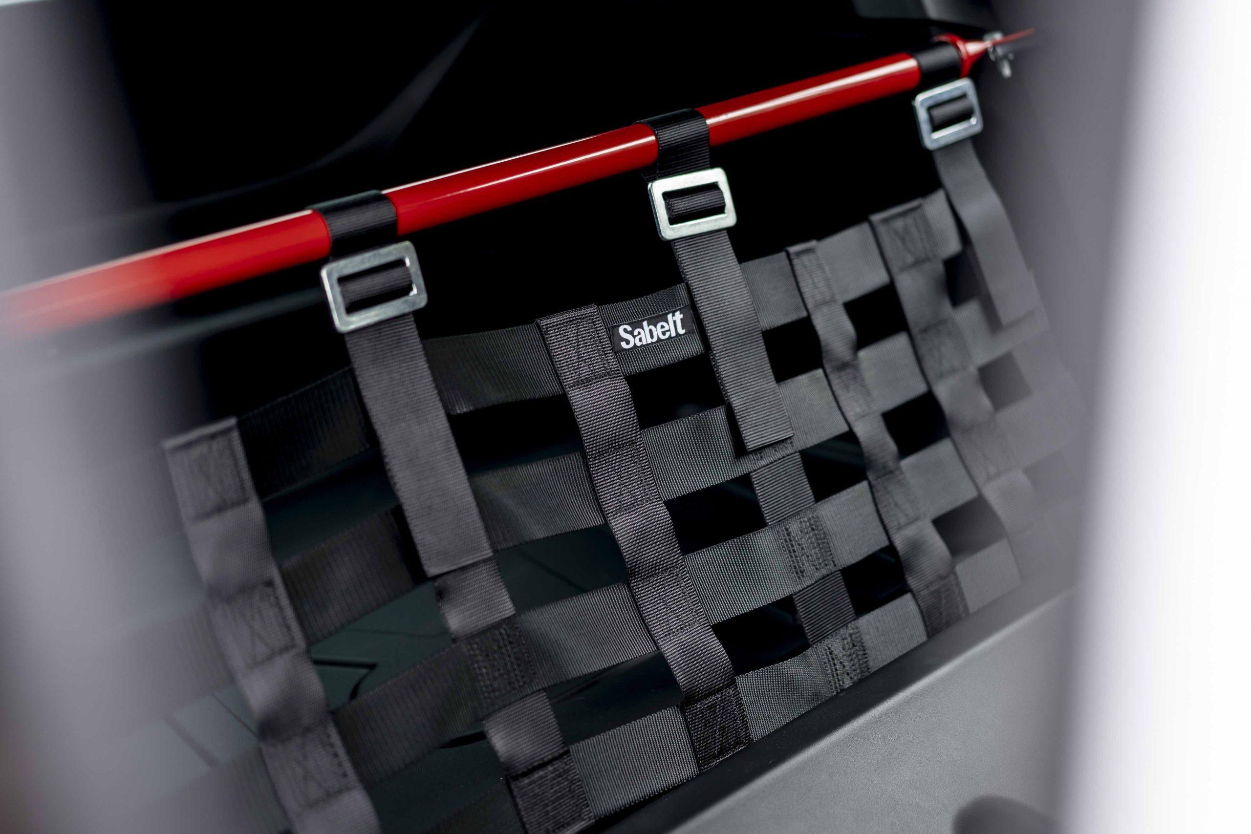 Renault Megane trophy r web straps detail