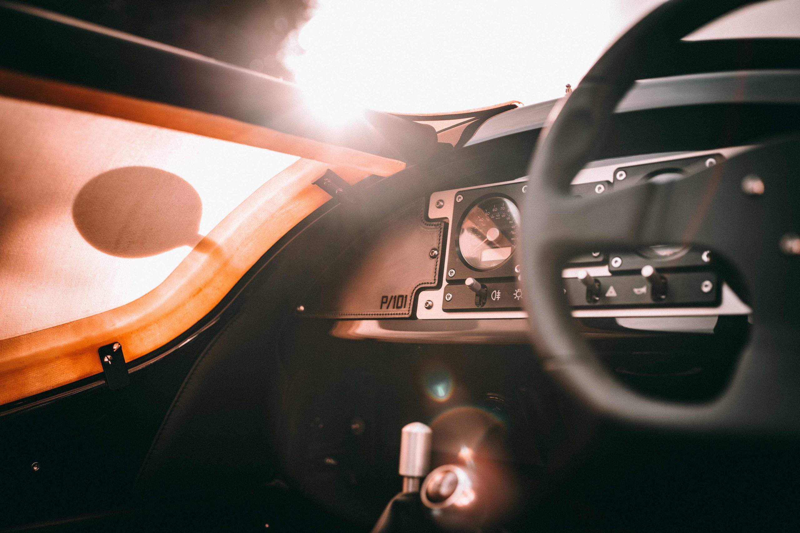 Morgan P101 three wheel cockpit interior
