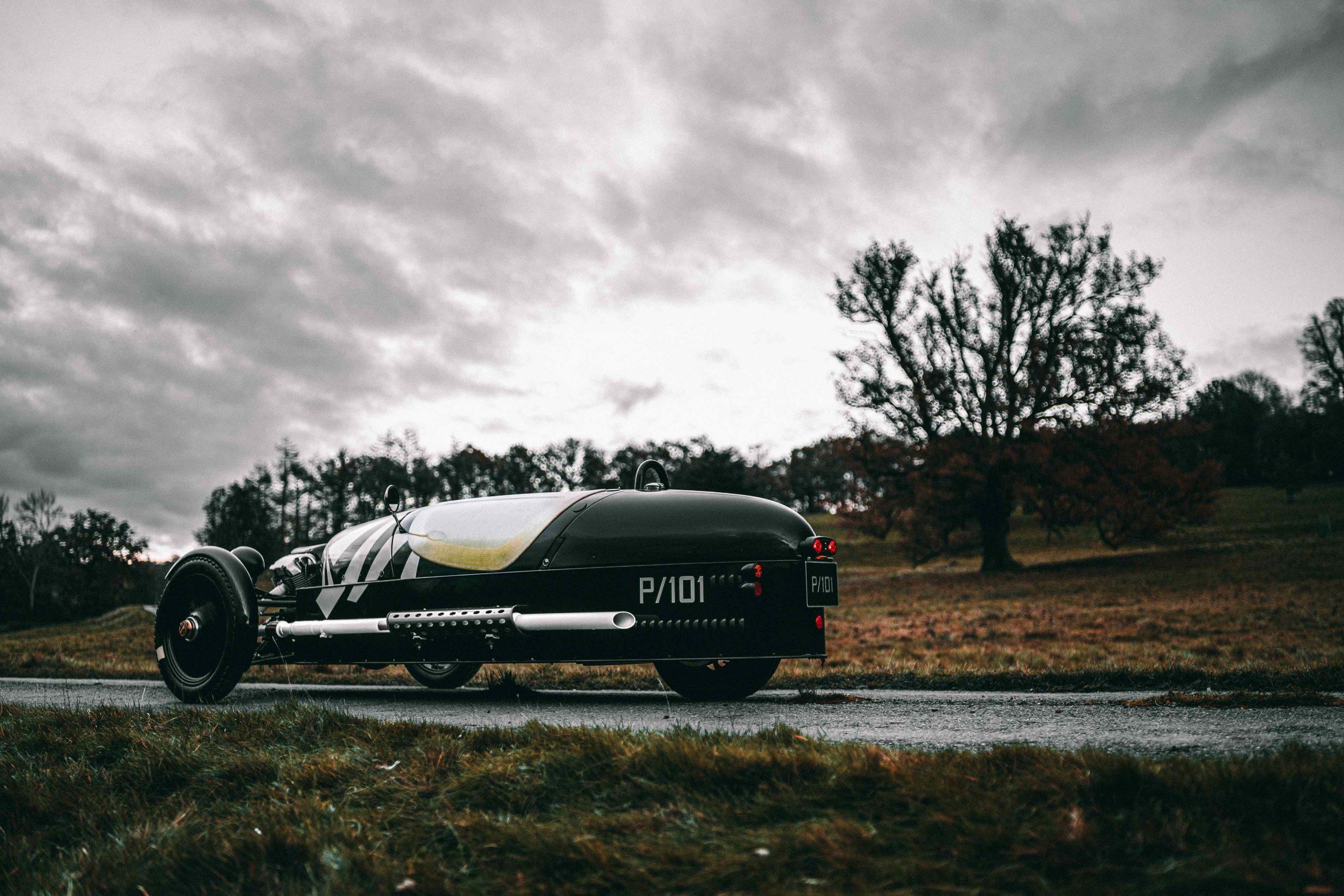 Morgan P101 three wheel rear three-quarter