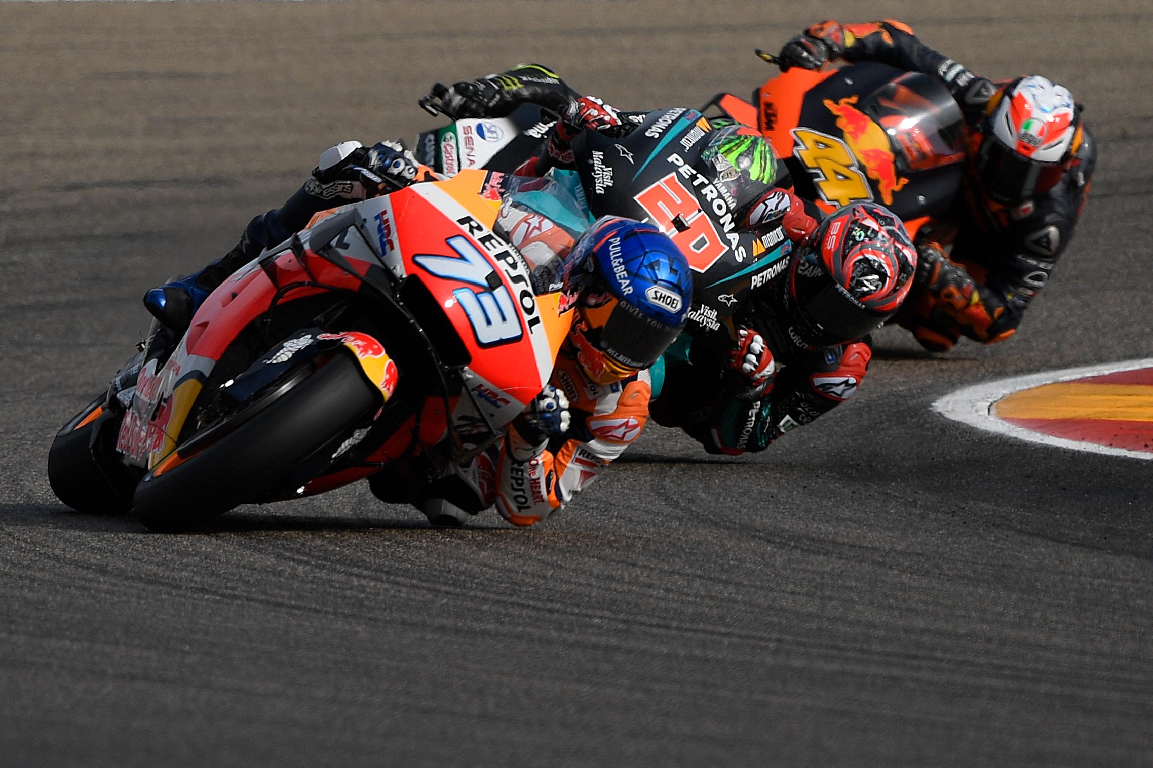 Alex Marquez Petronas Yamaha SRT's French rider Fabio Quartararo