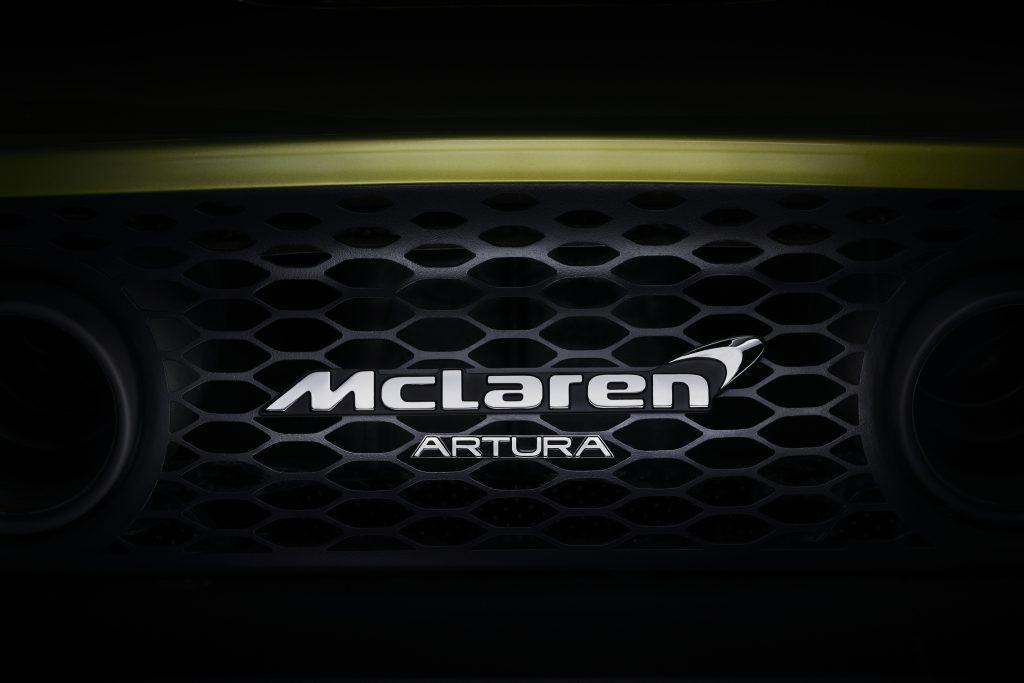 McLaren artura name rear exhaust