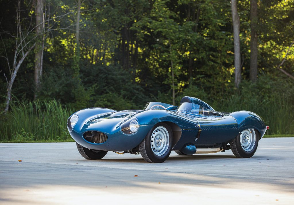 vintage Jag D-Type continuation front three-quarter