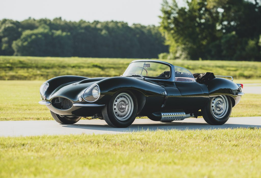 vintage Jaguar XKSS continuation front three-quarter
