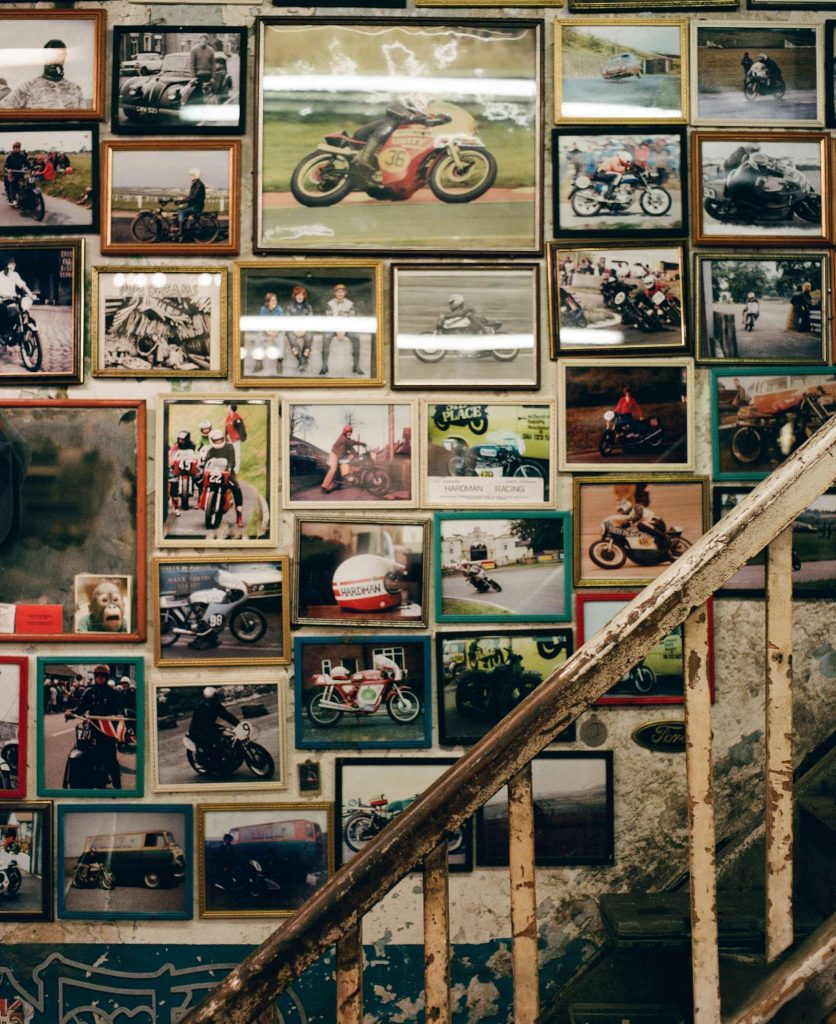 raysons exhausts workshop photo wall