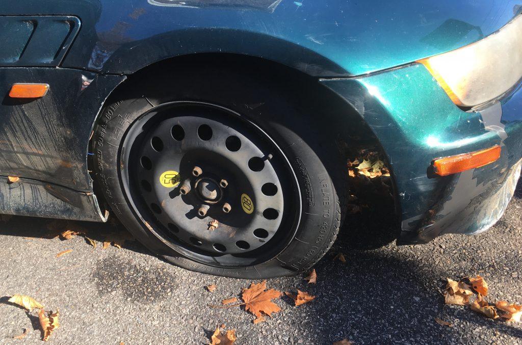 Rob Siegel - The Resurrection of Zelda - IMG_4869 - Passenger tire trouble