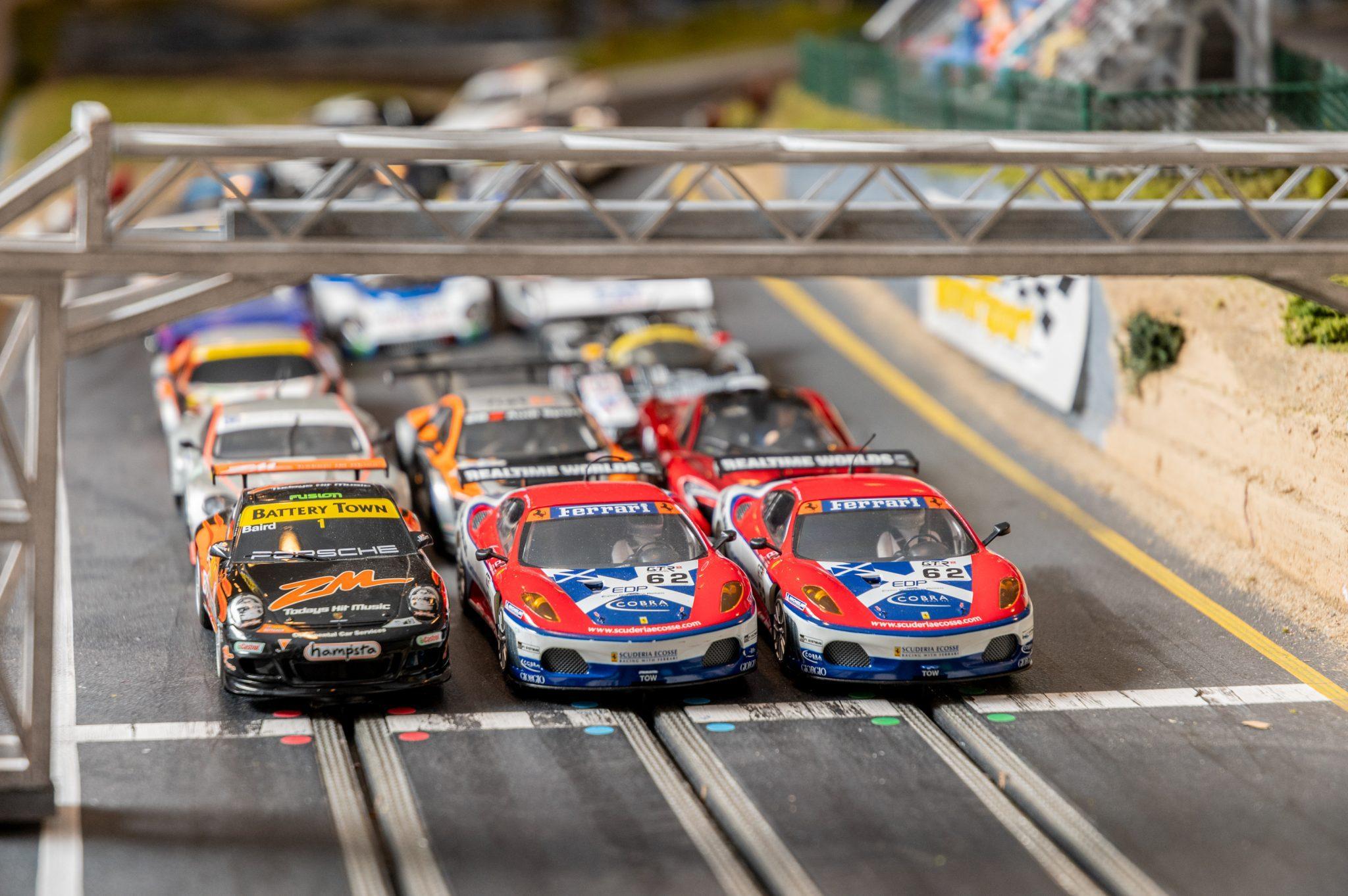 Slot Car Racetrack starting line detail