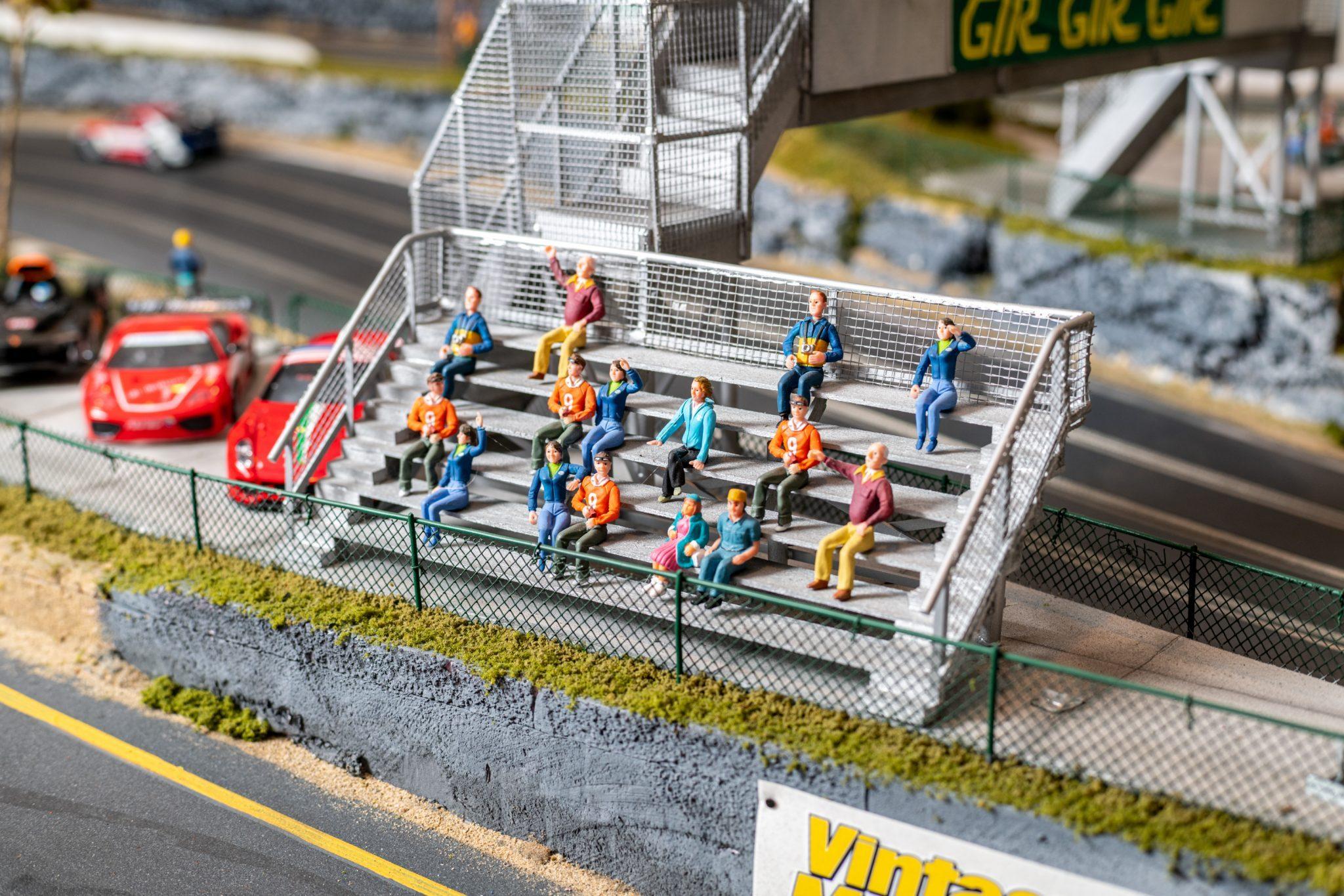 Slot Car Racetrack stands detail