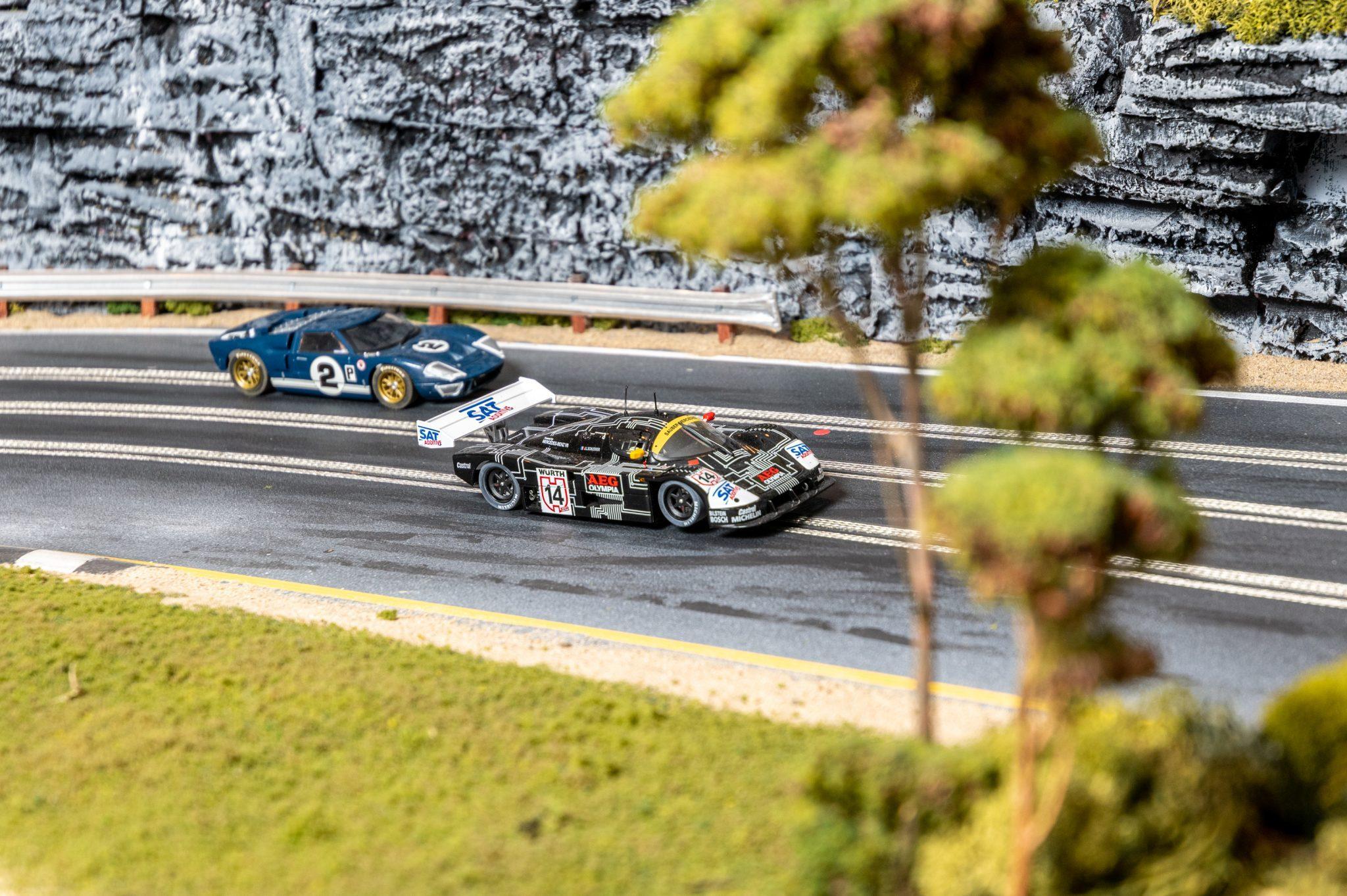 Slot Car Racetrack front three-quarter detail