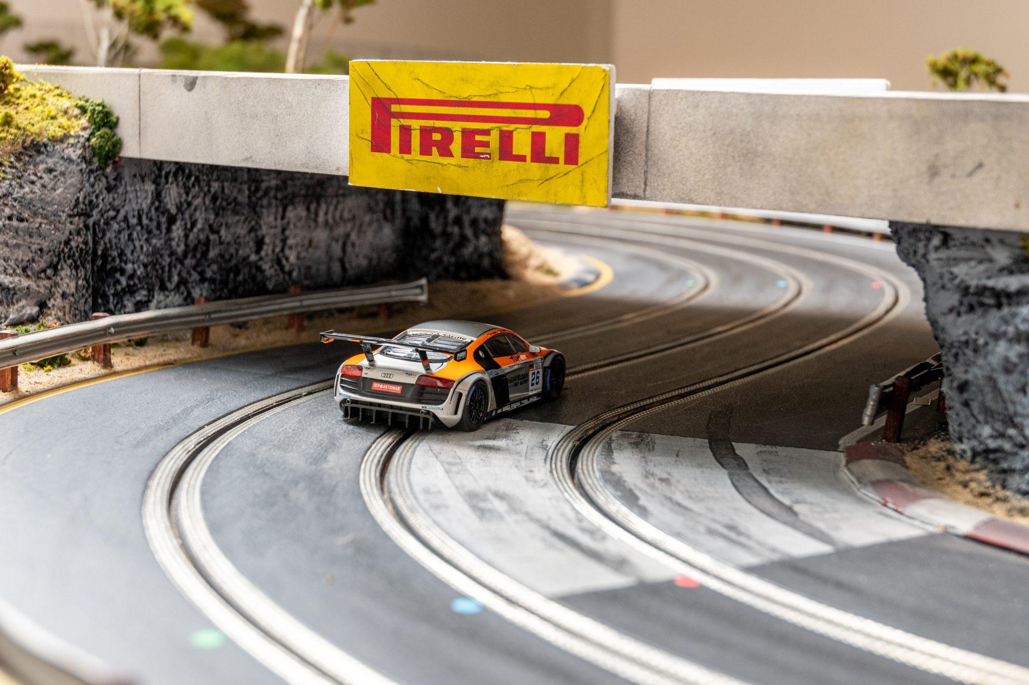 Slot Car Racetrack bridge detail