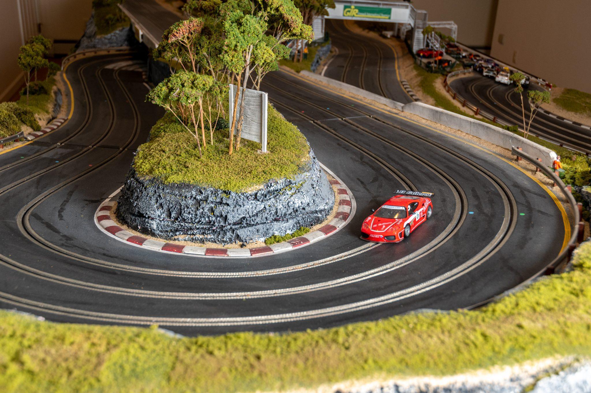 Slot Car Racetrack cornering detail