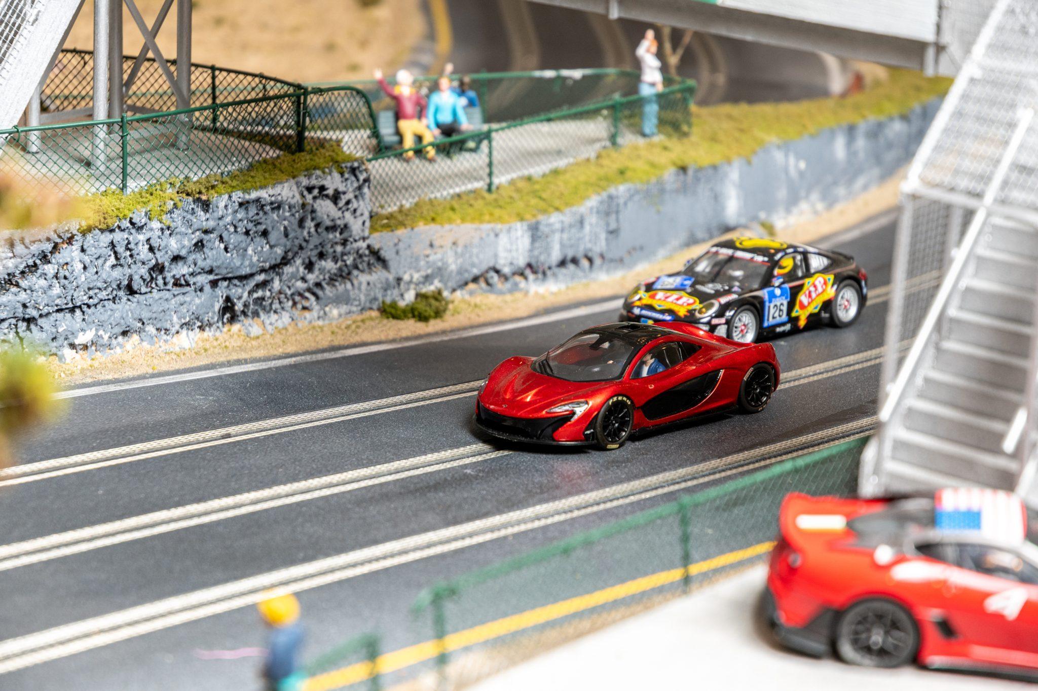 Slot Car Racetrack cars detail
