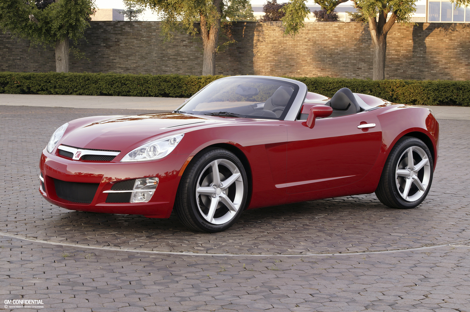 2008 saturn sky convertible front three-quarter