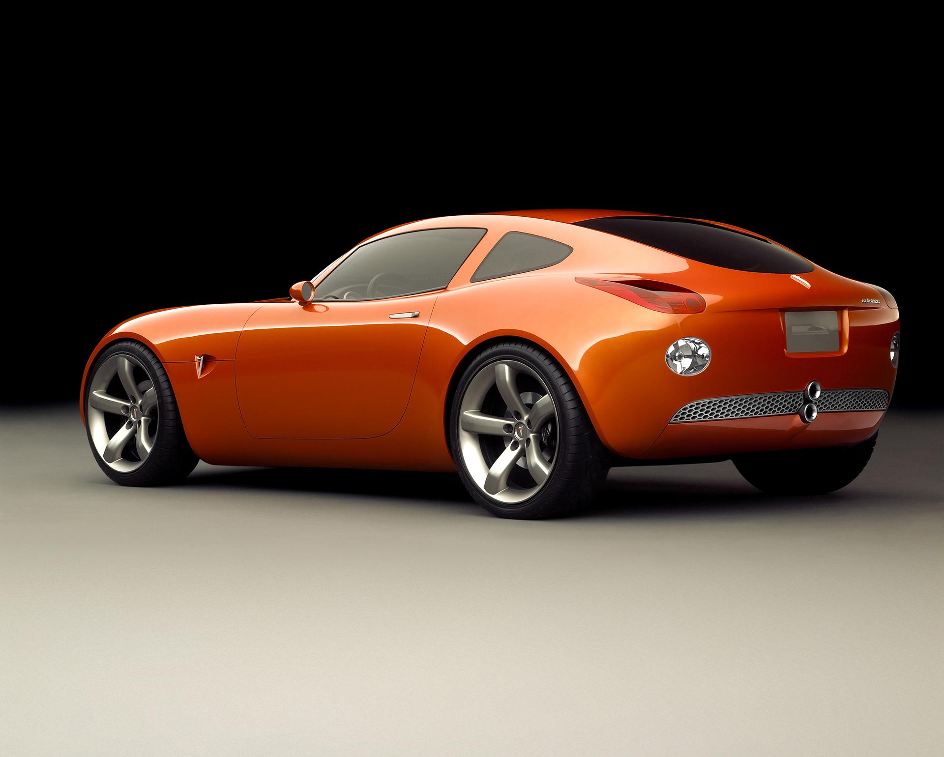 2002 pontiac solstice coupe concept rear three-quarter