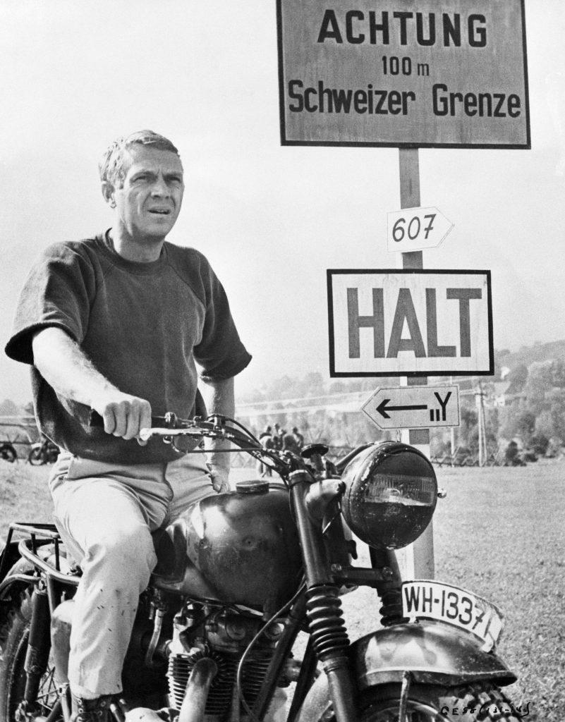 Steve McQueen on Triumph Motorcycle Germany