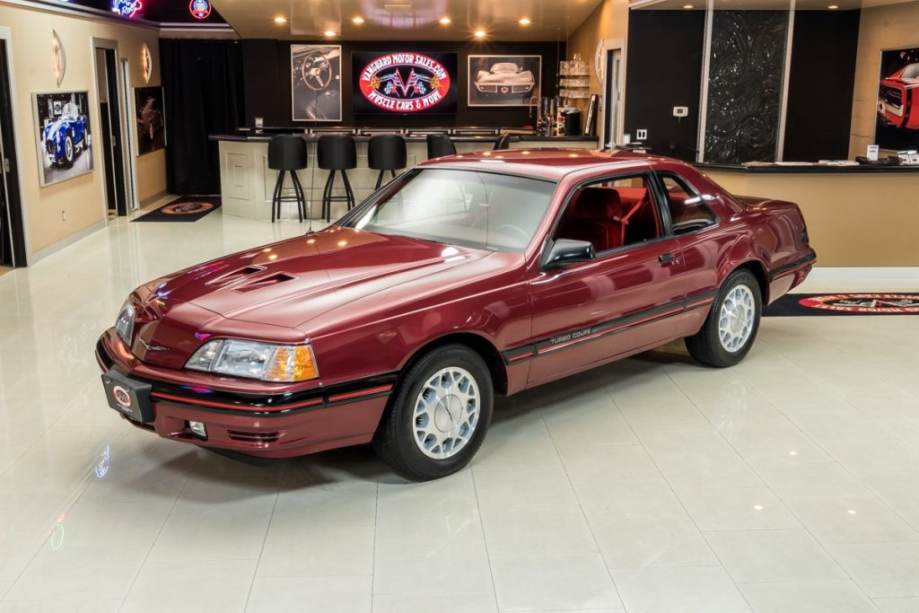 1987 ford thunderbird turbo coupe front three-quarter