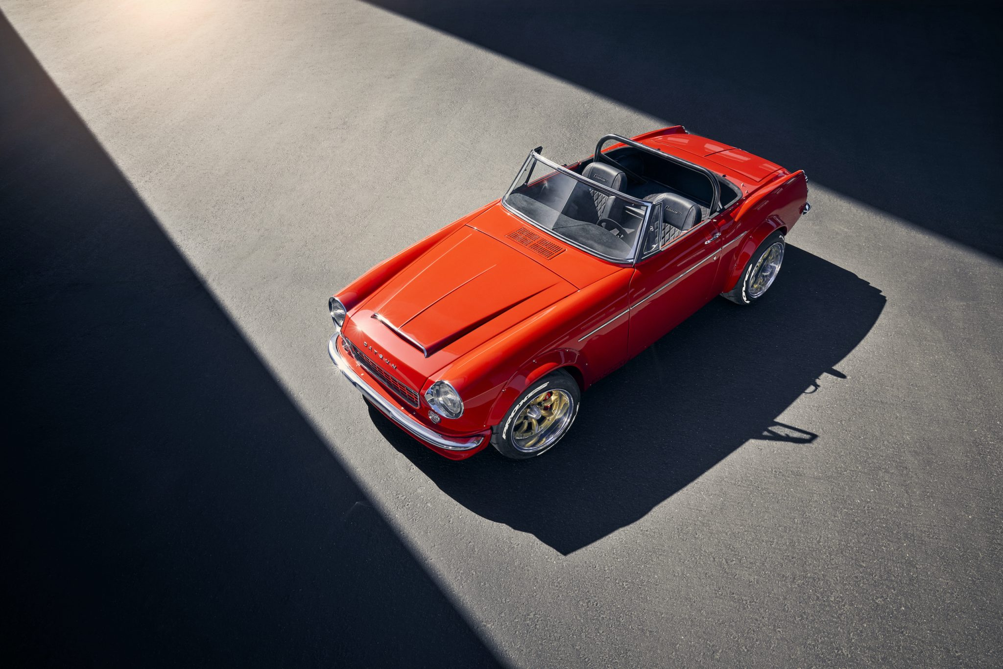 Mike Spagnola Jr. bought his Datsun roadster for $600 and spent half a year building it. Most of the work took place in the final four months, when he dedicated more than a thousand hours to its completion. Joseph Puhy