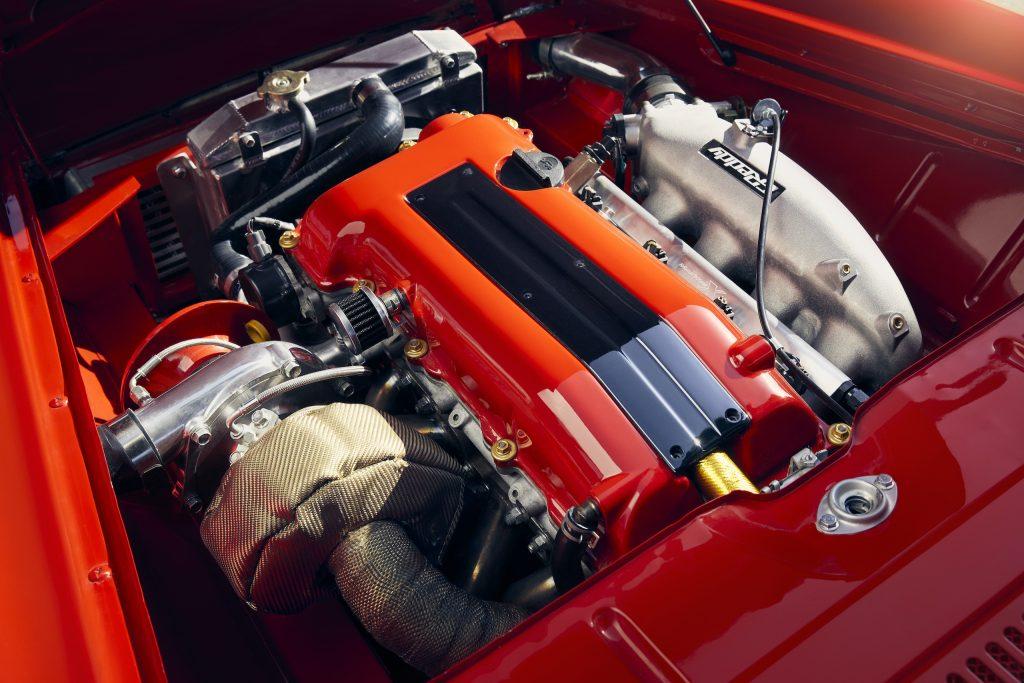 Purpose Built Motors 1966 Datsun engine detail