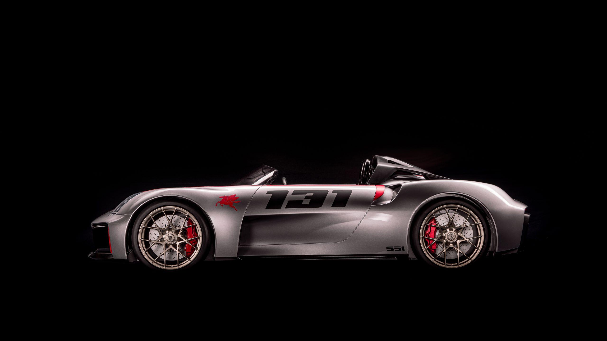 Porsche vision spyder side