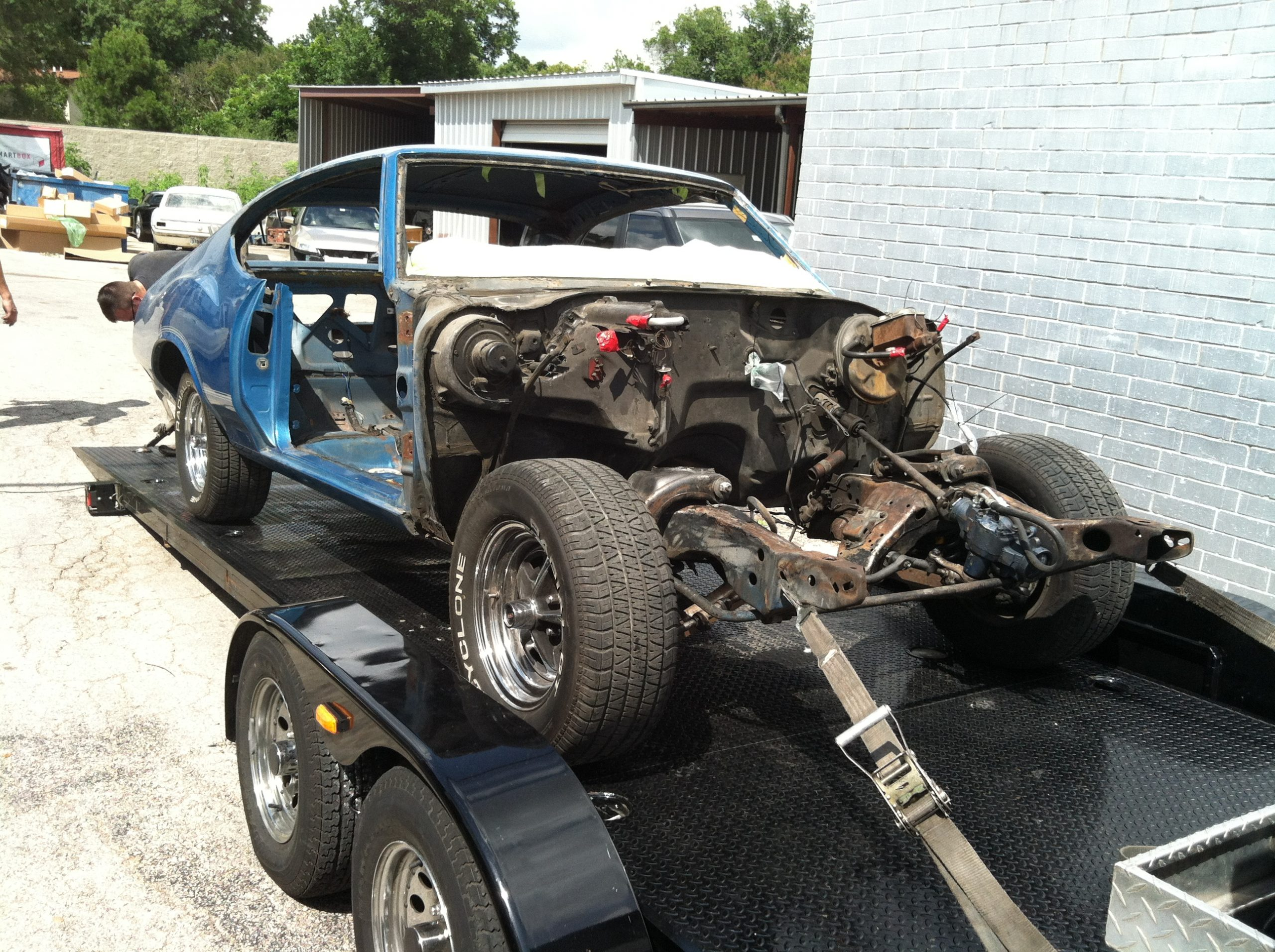 1972 oldsmobile 442 restomod before