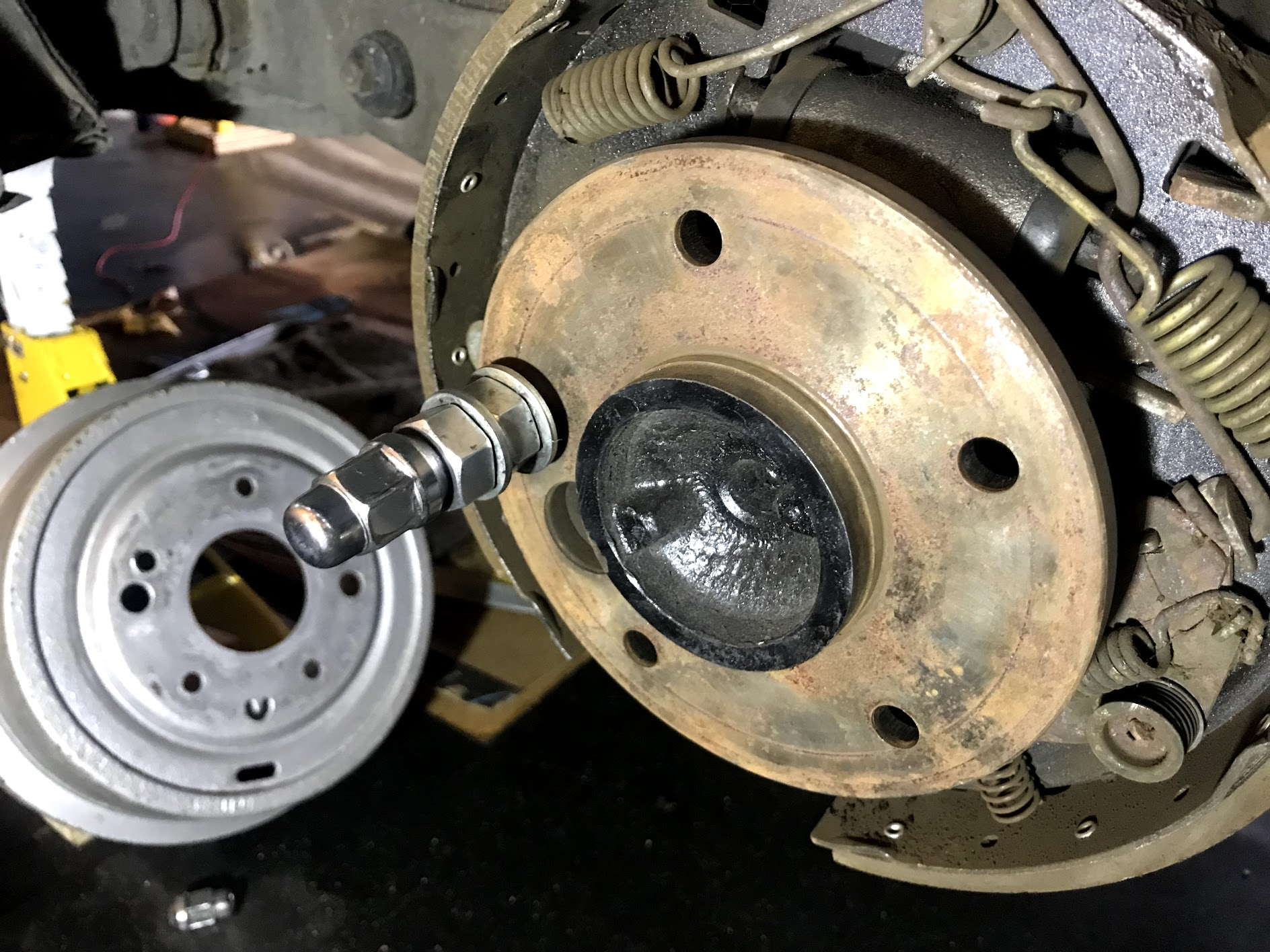 Stripped nuts used as spacers