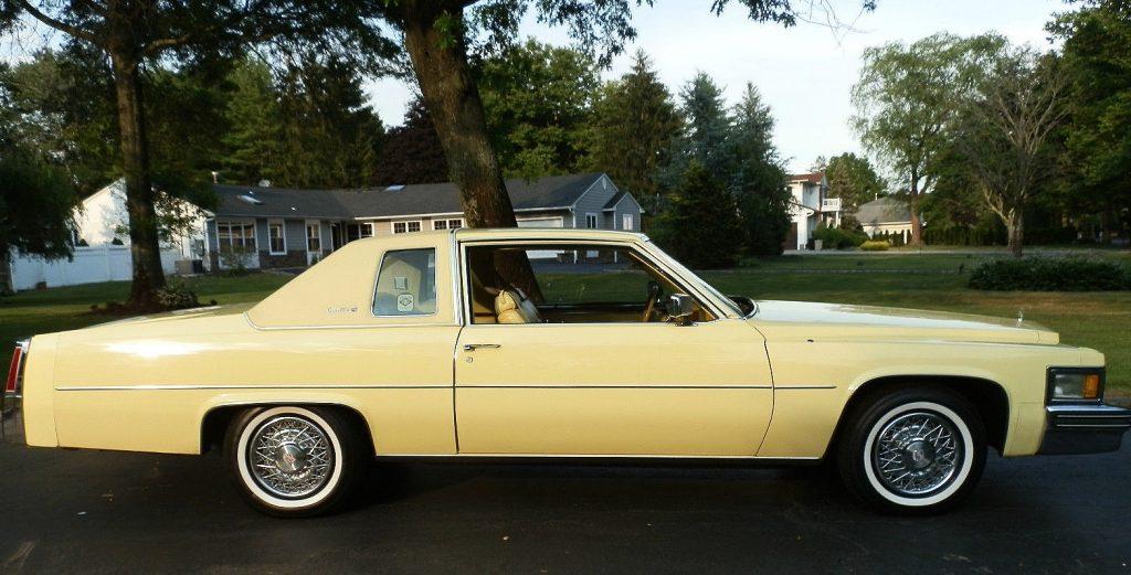 1977 Cadillac Coupe de Ville Naples Yellow side profile