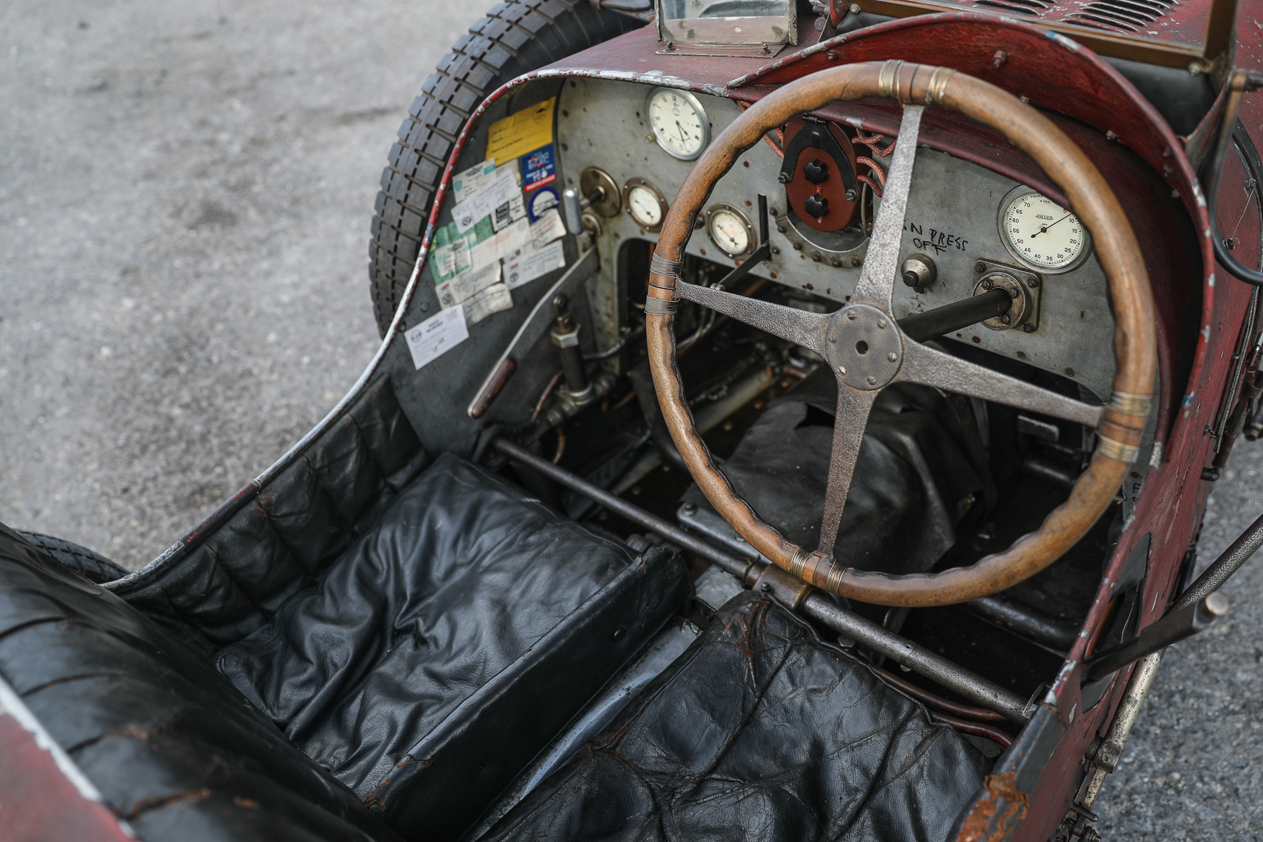 1928 Bugatti Type 35C Grand Prix interior cockpit