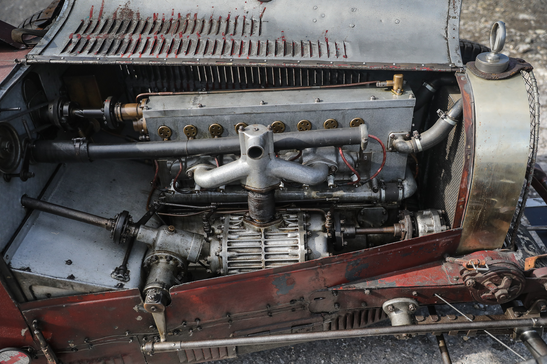 1928 Bugatti Type 35C Grand Prix engine bay