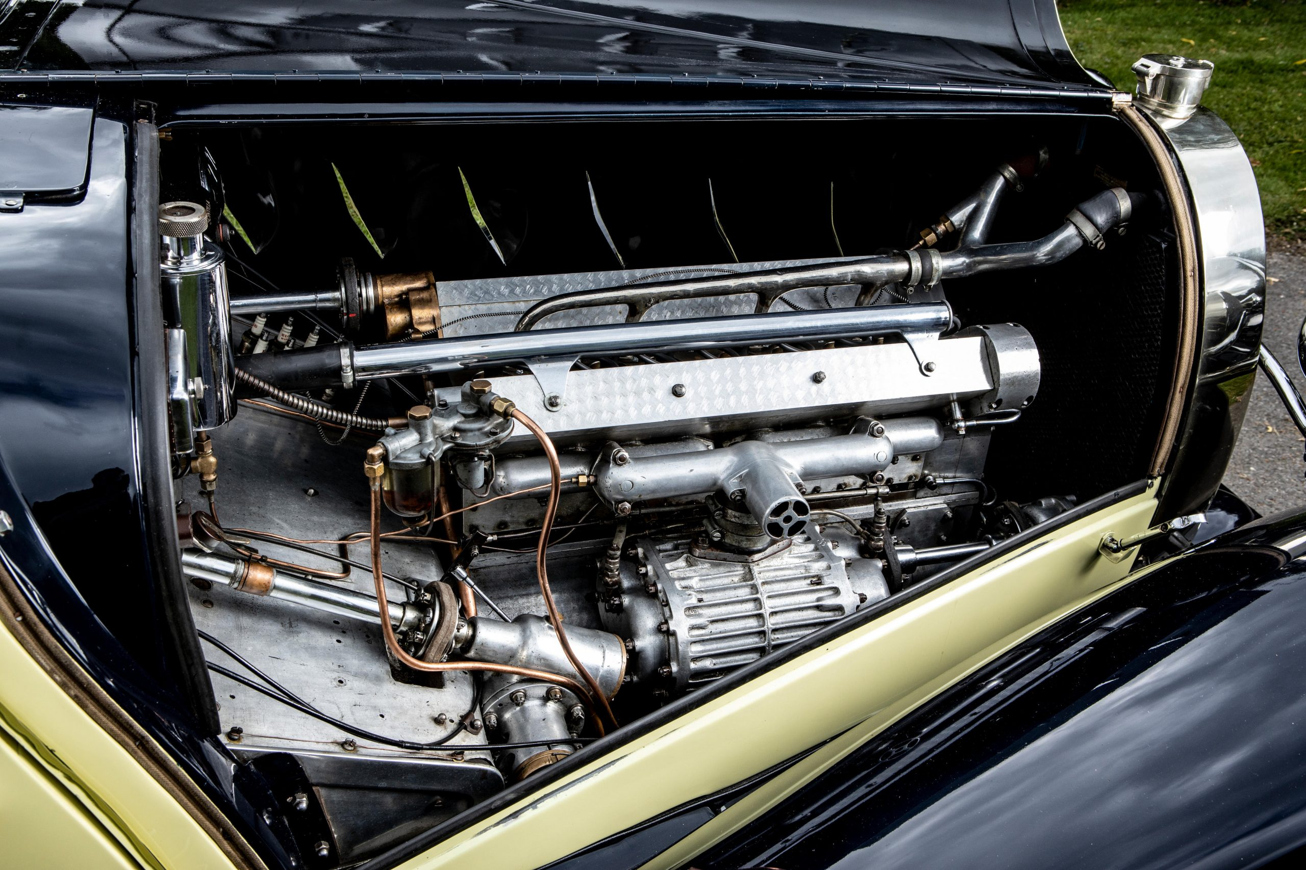 1931 Bugatti Type 55 Figoni engine bay