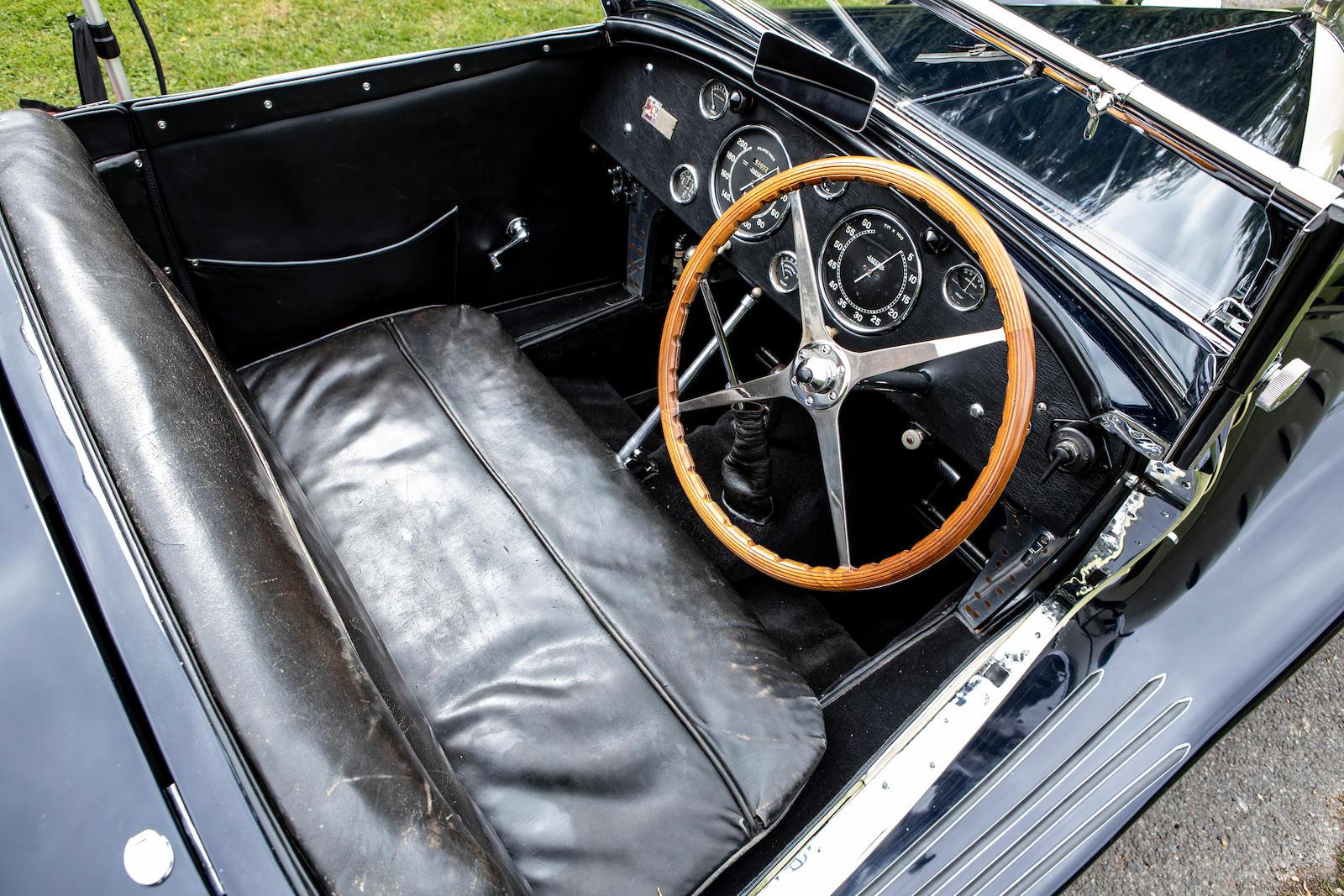 1931 Bugatti Type 55 Figoni interior cockpit