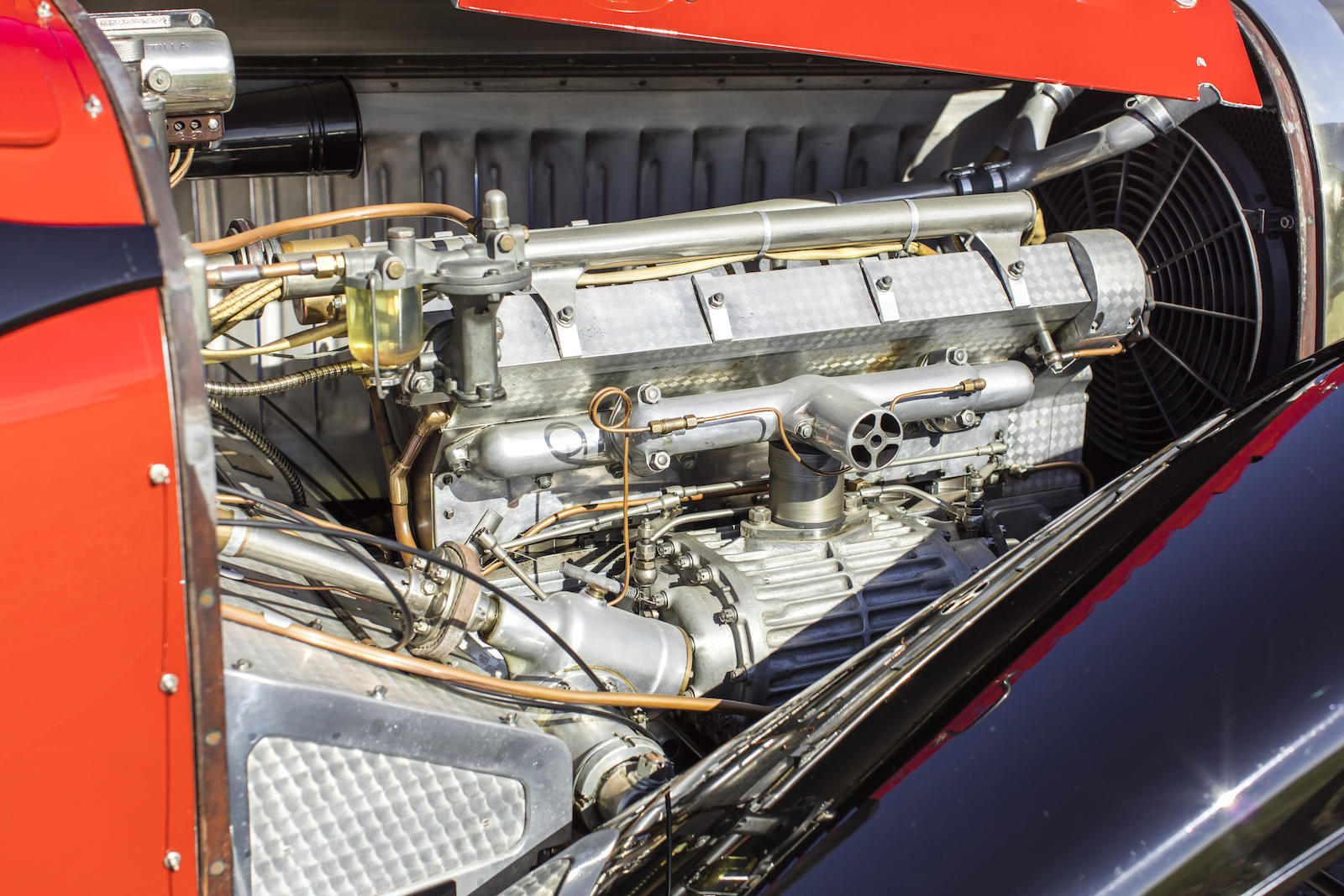 1932 Bugatti Type 55 SS Roadster engine bay