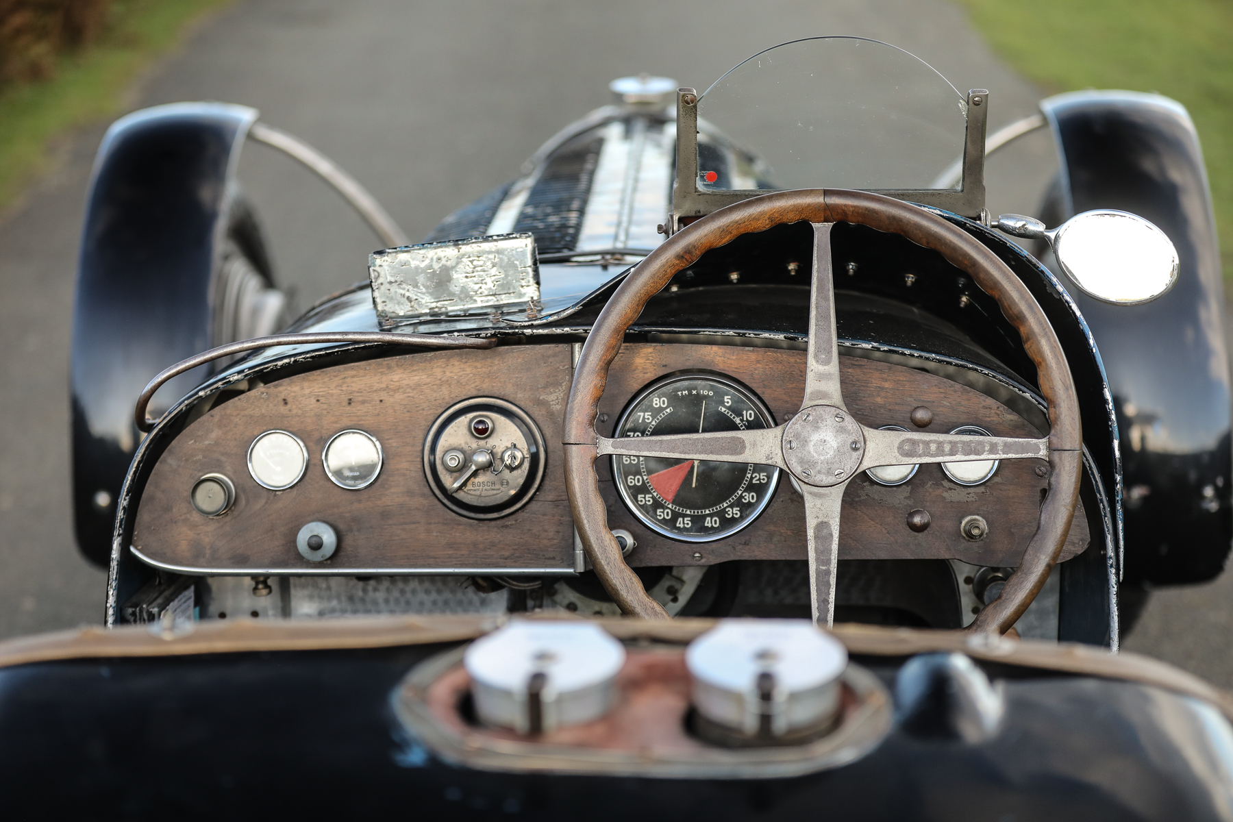 1934 Bugatti Type 59 interior cockpit